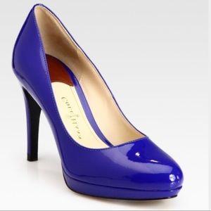 Cole Haan Cobalt Blue Patent Leather Heel Sz. 8